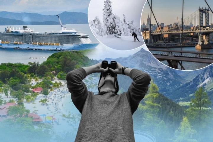 Kyselyn mukaan lukijat haaveilevat hyvin monenlaisista matkoista. Unelmien kohteina ovat muun muassa Karibian-risteily, Lappi, New York ja Alpit.