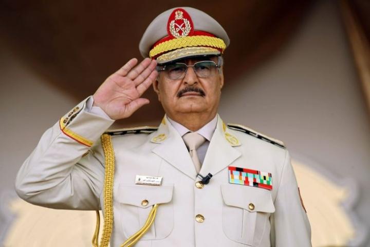 Yhdysvallat vastustaa Khalifa Haftarin torstaina käynnistämää hyökkäystä Tripolia kohtaan. LEHTIKUVA/AFP