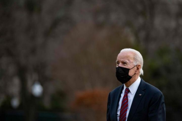 Presidentti Joe Biden kommentoi Iran-pakotteita CBS:n haastattelussa. LEHTIKUVA/AFP