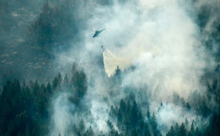 Ruotsissa palaa metsää nyt yhteensä noin 25000 hehtaarin alueella. LEHTIKUVA/AFP