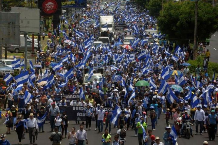 Nicaraguassa satoja ihmisiä on kuollut kuukausia jatkuneissa levottomuuksissa. LEHTIKUVA/AFP