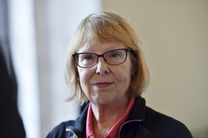 Vasemmistoliiton kansanedustaja Annika  Lapintie on toiminut kansanedustajana vuodesta 1995. LEHTIKUVA / EMMI KORHONEN