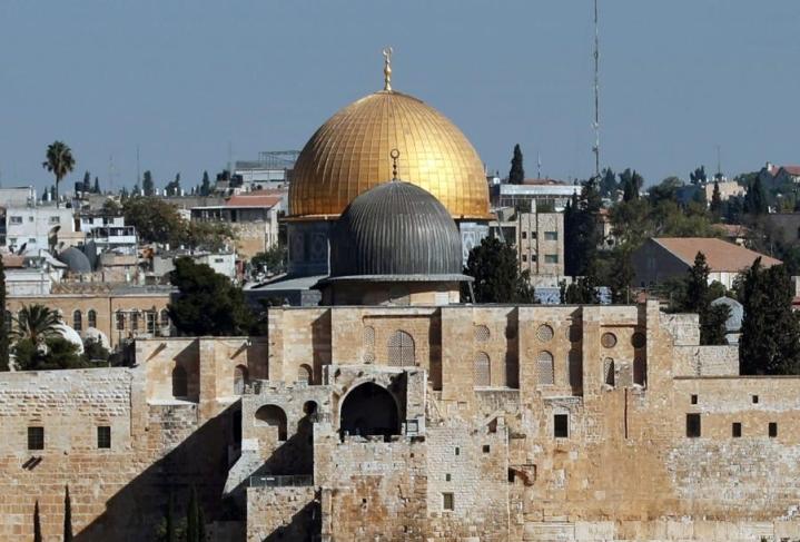 Jerusalemissa sijaitseva al-Aqsan moskeija on islamin tärkeimpiä pyhiä paikkoja. LEHTIKUVA/AFP