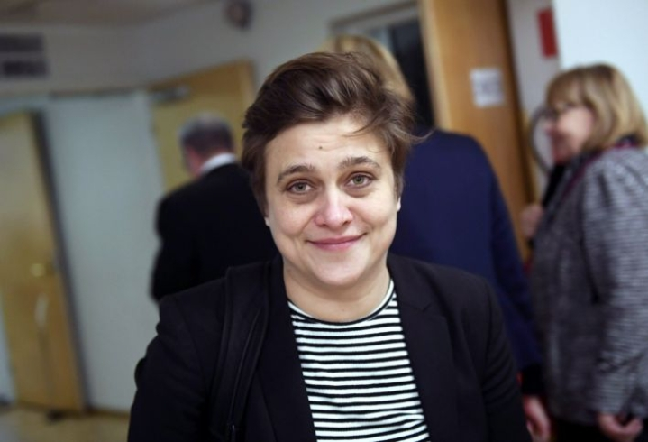 Silvia Modig sai toukokuussa järjestetyissä Euroopan parlamenttivaaleissa yli 51 000 ääntä ja tuli valituksi. LEHTIKUVA / Vesa Moilanen