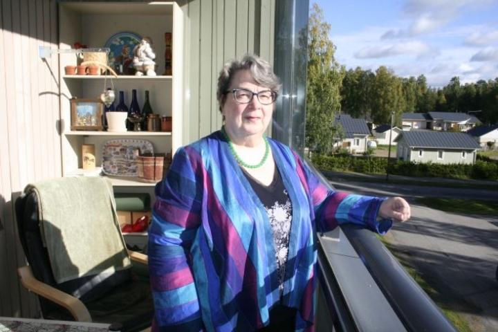 Marja Terttu Kovalainen on viihtynyt hyvin Outokummussa. Edessä lienee kuitenkin Alavinkadun, alun perin kaupunginjohtajalle tarkoitetun, asunnon myynti Turkuun muuton vuoksi.