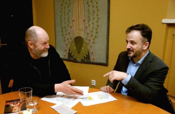 Markku Pölönen ja Huba Hollóköi ovat tuttu parivaljakko joensuulaisista oopperaproduktioista.