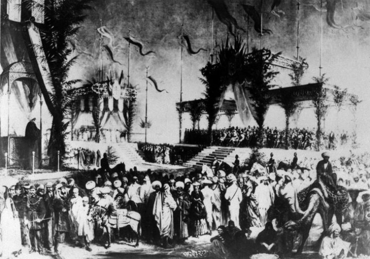 Suezin kanavan avajaiset Egyptissä marraskuussa 1869. Lehtikuva/AFP