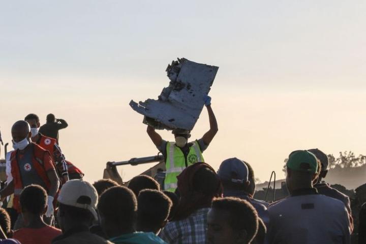 Ethiopian Airlinesin lento 302 Addis Abebasta Nairobiin syöksyi maahan viime viikon sunnuntaina pian nousun jälkeen. LEHTIKUVA / AFP
