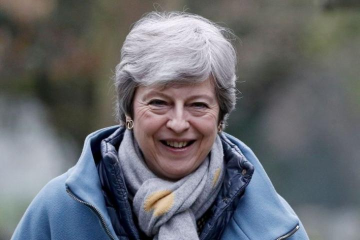 Pääministeri Theresa May itse kuvaili neuvotteluja puhtaaksi yhteisymmärryksen tavoitteluksi. LEHTIKUVA/AFP
