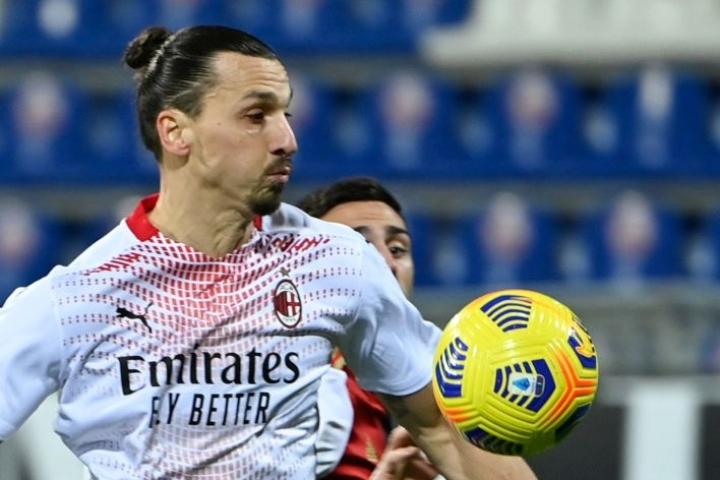 Zlatan Ibrahimovic teki kaksi maalia. LEHTIKUVA/AFP