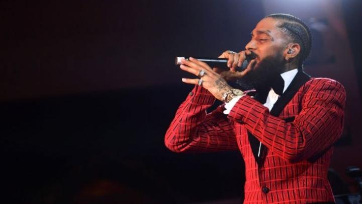 Hussle oli ehdolla helmikuussa järjestetyssä Grammy-gaalassa parhaasta rap-albumista. LEHTIKUVA/AFP