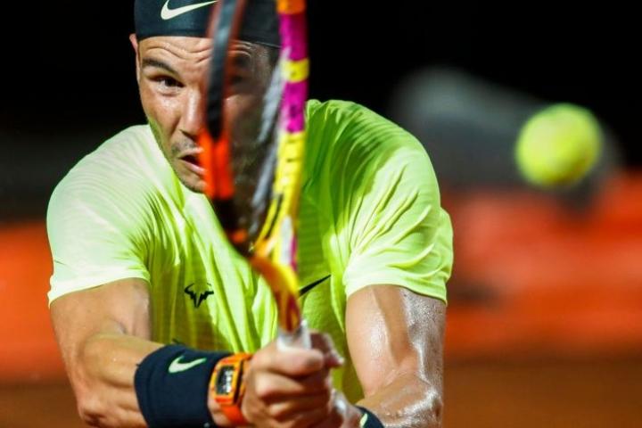 Nadal oli voittanut kaksikon yhdeksän edellistä ottelua. Lehtikuva/AFP