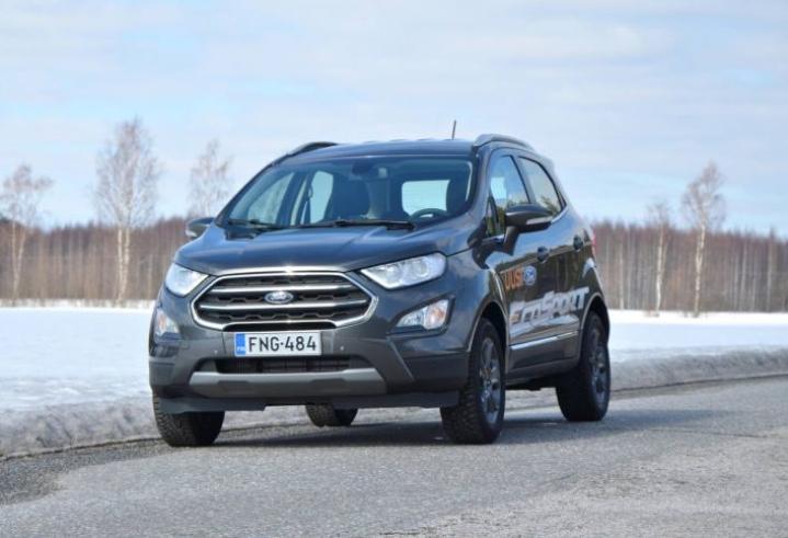 Ford Ecosport on perusmuodoltaan lyhyt ja korkea.