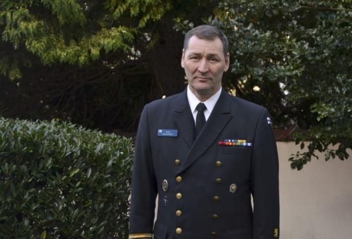 Juha Vauhkonen on toiminut neljä ja puoli vuotta Brysselissä Suomen sotilasedustajana Euroopan unionissa ja sotilasliitto Natossa. LEHTIKUVA / Heta Hassinen