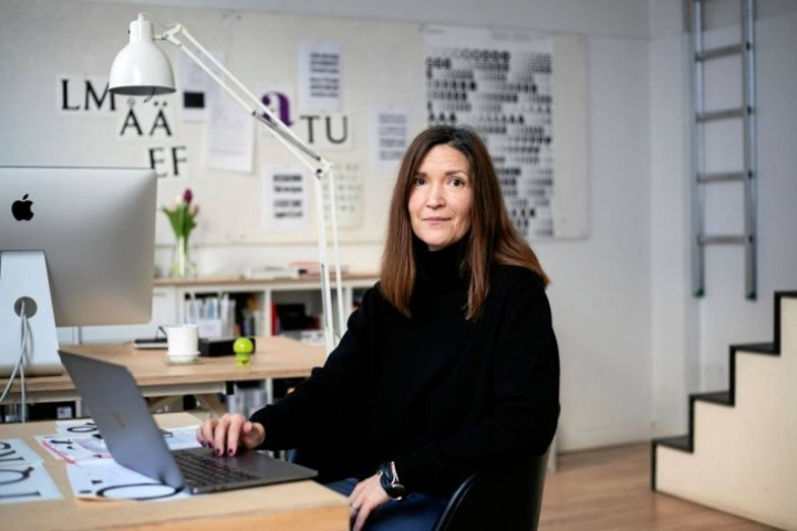 Anna Thurfjell työskentelee designstudiossaan Kööpenhaminan Rørholmsgadella.