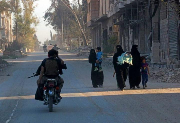 Turkin armeija pitää hallussaan useita kaupunkeja Pohjois-Syyriassa, muun muassa kuvan al-Babia.