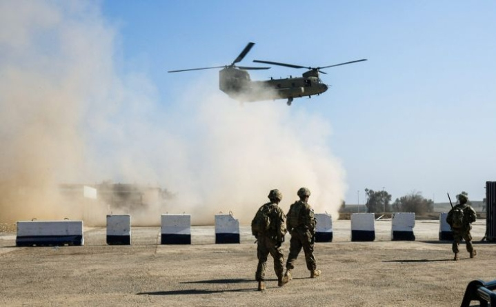 Yhdysvallat vähentää sotilaidensa määrää Irakissa merkittävästi tässä kuussa. Maahan jää noin 3000 sotilasta. LEHTIKUVA / AFP