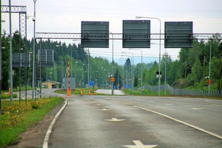 Näkymä Niiralan raja-asemalta Venäjälle päin.