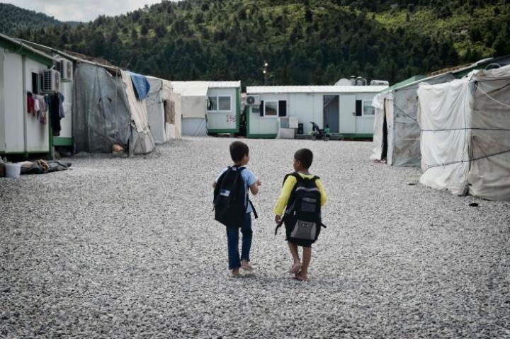 Malakasan leiri sijaitsee muutaman kymmenen kilometrin päässä Ateenasta. LEHTIKUVA / AFP