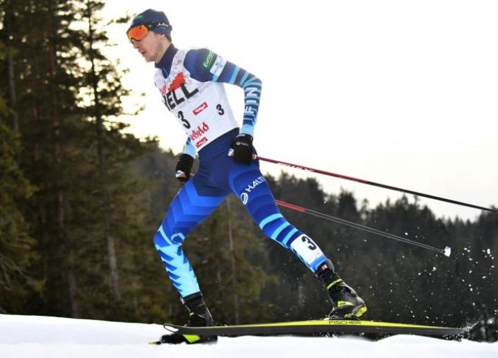 Olen luottavainen, että olen mitalitaistelussa mukana, Ilkka Herola sanoo. Herola kilpailee Oberstdorfissa seitsemänsissä arvokisoissaan. LEHTIKUVA / AFP