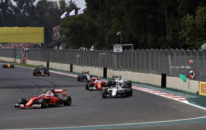Lewis Hamilton dominoi Meksikon gp:tä, Kimi Räikkönen kuudes. LEHTIKUVA/AFP