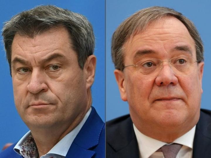 Markus Söder ja Armin Laschet. Lehtikuva/AFP