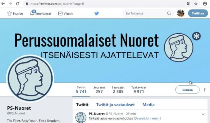 Kiistan keskiössä on PS-Nuorten Twitter-tilillä toukokuussa julkaistu viesti, joka tulkittiin kehotukseksi äänestää eurovaaleissa perussuomalaisia, jotta Suomessa ei olisi ihonväriltään pääväestöstä poikkeavia ihmisiä.  LEHTIKUVA