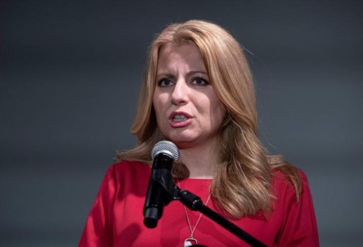 Presidentiksi pyrkivä Zuzana Caputova sai reilun 40 prosentin kannatuksen Slovakian presidentinvaalien ensimmäisellä kierroksella. LEHTIKUVA/AFP