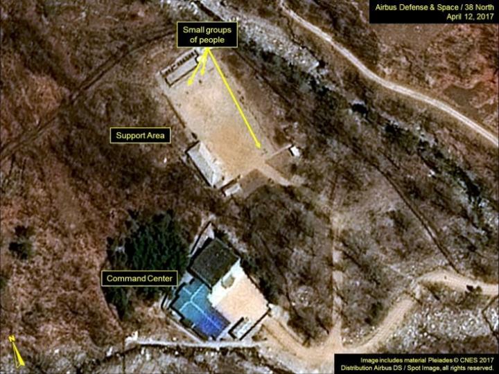 Punggye-rin alueella maan koillisosassa on järjestetty kaikki kuusi Pohjois-Korean ydinkoetta. LEHTIKUVA/AFP