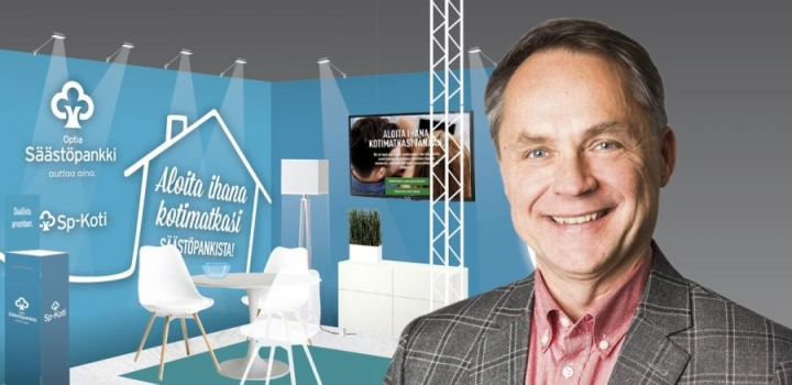 Petteri Järvinen on tavattavissa Joensuun rakenna, sisusta, asu –messuilla myös Säästöpankki Optian osastolla lauantaina 1.4.