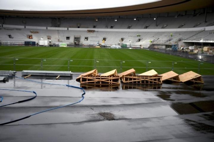 Olympiastadionin remontin ajan Huuhkajat on pelannut kotiottelunsa varakentillä Helsingissä, Tampereella ja Turussa. LEHTIKUVA / Jussi Nukari