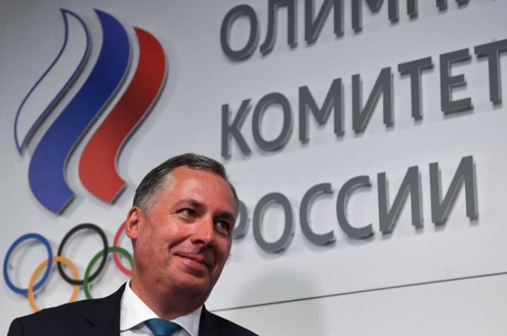 Venäjä on täyttänyt velvoitteensa täysin, Venäjän olympiakomitean puheenjohtaja Stanislav Pozdnjakov sanoo Tassin haastattelussa. LEHTIKUVA/AFP