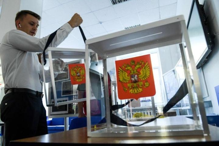Moskovassa useilta opposition ehdokkailta estettiin pääsy mukaan vaaleihin, mikä aiheutti suuria mielenosoituksia. LEHTIKUVA/AFP